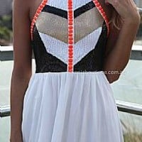 CAGE BACK SEQUIN JEWEL DRESS , DRESSES, TOPS, BOTTOMS, JACKETS & JUMPERS, ACCESSORIES, 50% OFF SALE, PRE ORDER, NEW ARRIVALS, PLAYSUIT, COLOUR, GIFT VOUCHER,,White,CUT OUT,Orange,Sequin,SLEEVELESS Australia, Queensland, Brisbane