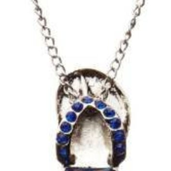 MLB Officially Licensed Jeweled Flip Flop Necklace (New York Mets)