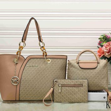 Mk Women Leather Tote Satchel Crossbody Handbag Three Piece Suit 3