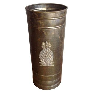 Pre-owned Vintage Brass Pineapple Umbrella Stand