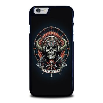 affliction indian skull iphone 6 6s case cover  number 1