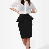 Make Your Presents Known Black Pencil Skirt