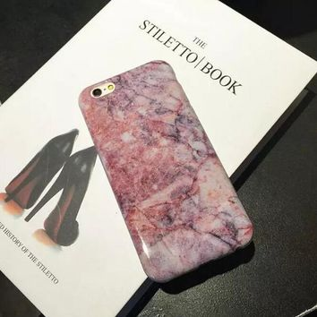 Hight Quality Marble iPhone 7 6 6s Plus Case Cover Gift + Free Gift Box-170928