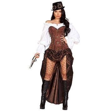 Sexy Machinery Steampunk Costume with Accessories