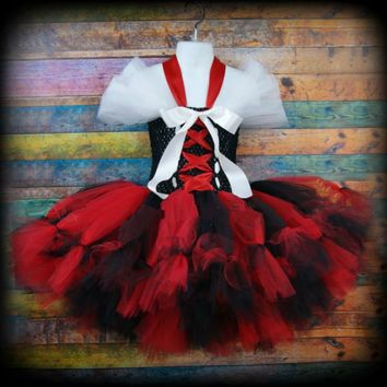 Cosplay Kids Girls Halloween Pirate Tutu Dresses Red Bay Girls Wench Tutu Dress Outfit Photography Halloween Dress Up Costume