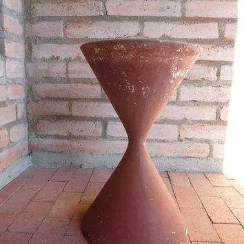 Willy Guhl Anton Bee Spindel Architectural Pottery Hourglass Planter Mid Century Modern