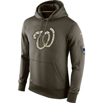 Washington Nationals Nike MLB Salute To Service Pullover Hoodie