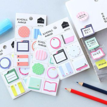 VONC1Y 1 x Creative lovely mini memo pad paper Post-it notes sticky notes notepad kawaii children stationery school supplies kids gifts