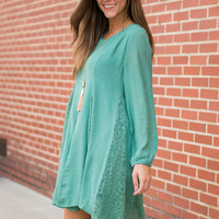 Romantic Ways Dress, Sage