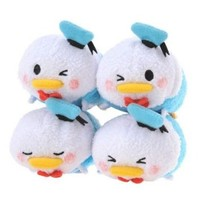 Tsum Tsum Plush / Smartphone Cleaner Donald Duck (S) 4 Faces Special Set (Japan Import)