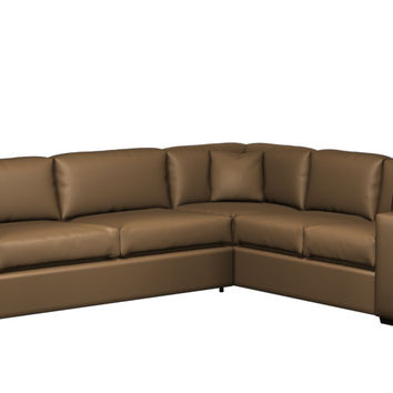 Sutton Place II Leather True Sectional with Queen Sleeper Sofa
