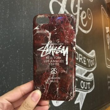 Cool Stussy Marble Pattern  Iphone 7 7 Plus & 6 6s Plus Cover Case