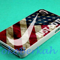 us flag nike just do it case iphone 4/4s case, iphone 5 case, iphone 5s case, iphone 5c case samsung galaxy case, galaxy s5 case