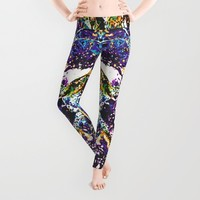 Abstraction #6 Leggings by Stephen Linhart