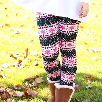 Meet Me Under The Mistletoe Fleece Lined Leggings