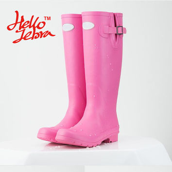 Fantastic Rain Boots, Tall Wellies, Hunter Style Waterproof Nubuck Rainboots