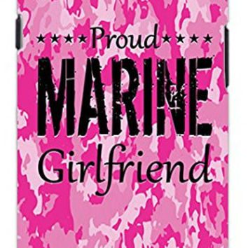 Premium Pink Camo Marine Military Girlfriend Camouflage Direct UV Printed Unique Quality Hard Snap On Case for Samsung Galaxy S4 I9500 - White Case