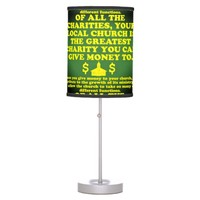 Your Church Is The Greatest Charity. Desk Lamp