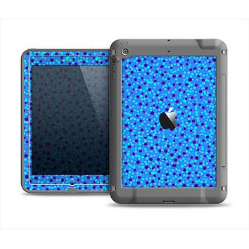 The Small Scattered Polka Dots of Blue Apple iPad Mini LifeProof Fre Case Skin Set