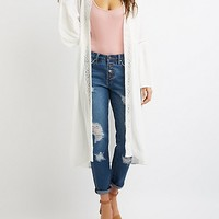 Crochet-Trimmed Open-Front Duster | Charlotte Russe
