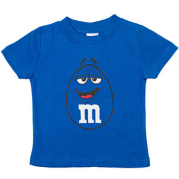 M&M's Candy Character Face T-Shirt - Toddler - Blue - 2T