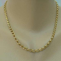 Vintage Curb Link Chain Necklace 18-inches Long