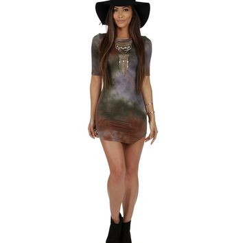 Olive Look at Her Tie Dye Tunic