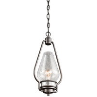 Kichler 49093AVI Hanford Anvil Iron 7.75-inch One Light Outdoor Hanging Mini Pendant