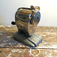 Boston Champion Desk Pencil Sharpener Vintage Pencil Sharpener Vintage Office Supplies