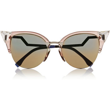 Fendi - Crystal-embellished cat eye Optyl™ sunglasses