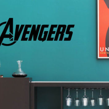 Vinyl Wall Word Decal - The Avengers Logo Decal - Marvel Comics - Home Goods - Wall Decal