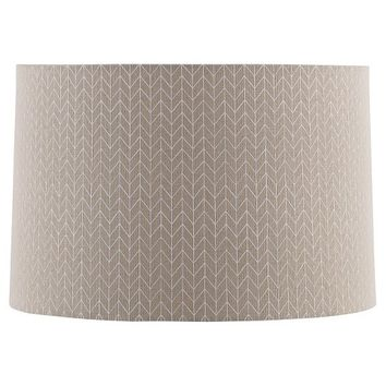 Threshold™ Straight Drum Outline Chevron Lamp Shade Large - Beige with Cream Detail