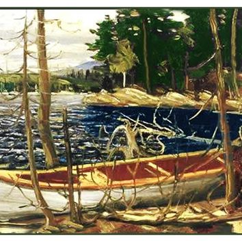 Tom Thomson's The Canoe Lake Trees Canada Landscape Counted Cross Stitch or Counted Needlepoint Pattern