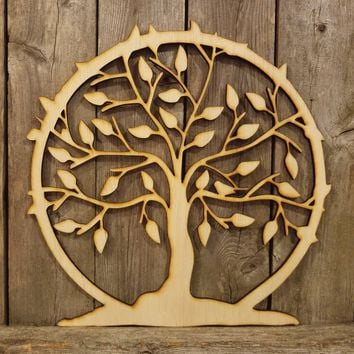 Tree of Life- laser cut wood sign