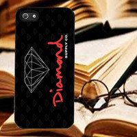 Diamond Supply Logo Red  for iPhone 4/4S/5/5S5C Case, Samsung Galaxy S3/S4 Case, iPod Touch 4/5 Case