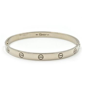 Authentic Cartier Love Bracelet 18k White Gold