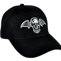 Bat Wing Skull Hat Baseball Cap