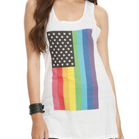 Pride American Flag Girls Tank Top