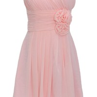 Dressystar Sweetheart Bridesmaid Party Dresses Floral Embellishment on Waist