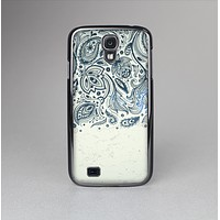The Vintage Tan & Black Top Swirled Design Skin-Sert Case for the Samsung Galaxy S4