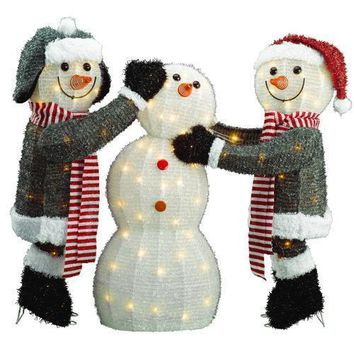 3-piece Snowmen Family, Outdoor Christmas Yard Decoration 🎅🎅🎅