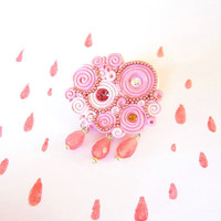 Cloud broochOOAK pink cloud pin free shipping by FlowerLandShop