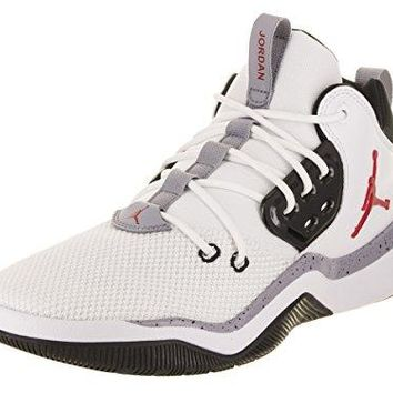 NIKE Men's AIR Jordan DNA Shoe White/Gym RED/Black/Grey (12 D(M) US)