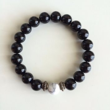 Create Your Own Intention Bracelet - Black Onyx w/ Sterling Silver Accents
