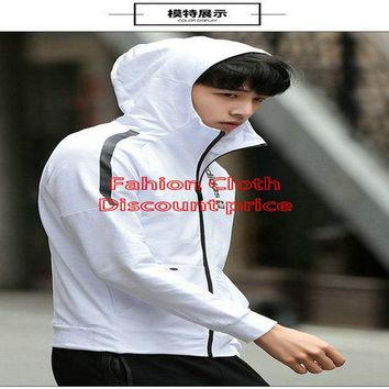 Mens Adidas Sweater Hoodies 2018 Spring Clothes L-4XL 776868 White