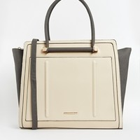 River Island Gray And Neutral Winged Tote
