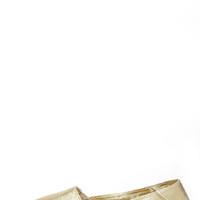 Report Signature Sphinx Gold Espadrille Flats