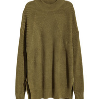 Knit Mock Turtleneck Sweater - from H&M