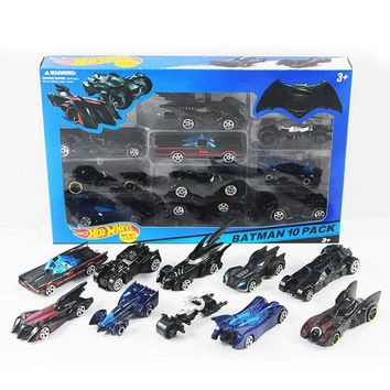 Batman Dark Knight gift Christmas 10pcs/box hotwheels mini scale slide model cars classic toy Batman car metal hot wheels track kids toys Collection  gift AT_71_6