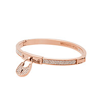 Rose Gold-Tone Logo Heart Bangle | Michael Kors